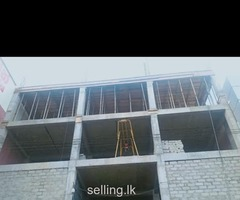 An Unfinished building for rent prime location in the heart of Kurunegala