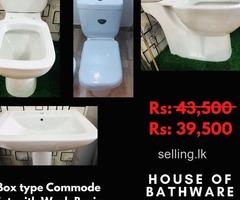 Box type Commode Set with Wash Basin