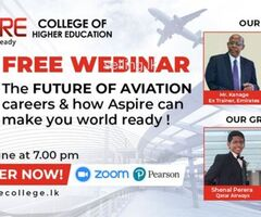FREE Webinar on the Future of Aviation from ASPIRE College of Higher Education