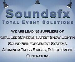 Sound EFX Entertainments - Event Equipment Rental Service.
