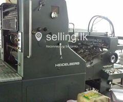 HEIDELBERG SORM offset machine (1990 pneumatic)