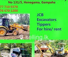 Construction & Machinery - JCB for hire in Weliweriya.