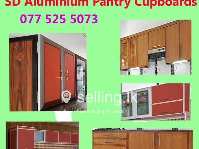 Pantry Cupboards Piliyandala - SD Aluminium Pantry Cupboards.