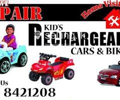 Kid's rechargable toys repairing