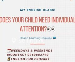 Online individual English Class