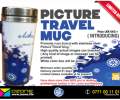 stainless steel Picture Travel Mug