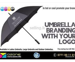"Print your full color logo on 27"" white umbrella"