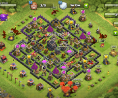 Town hall 9 COC base for sale