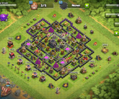 Clash of clans Th9 half max base for sale.
