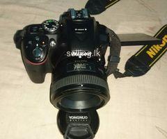Used Nikon D5300 HDSLR with Yongnuo 50mm lense immediate sale.