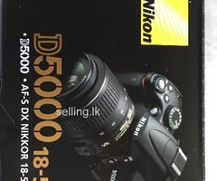 Nikon D5000 DSLR camera, lense, battery, 4GB Scandisk memory card nearly new from UK