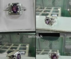 Natural Purple silver Ring