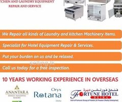 Kitchen and laundry equipment repair and service