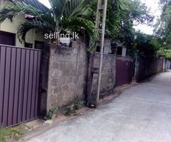 land with house for sale wattegedara