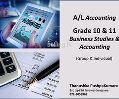 A/L Accounting  & Grade 10/ 11 Commerce  Tution.- Group  & Individual