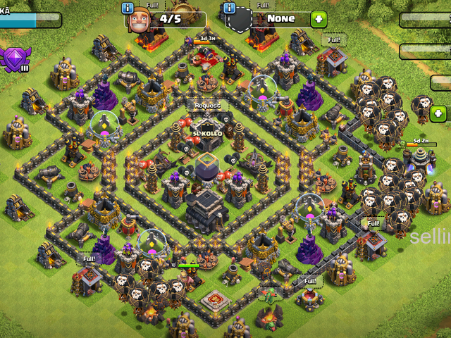 clash of clans lvl 9 max base Katugastota - selling.lk in ...