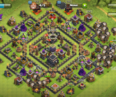 clash of clans lvl 9 max base