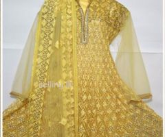 Indian heavy embroided stone worked rich wedding wear