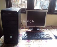 Dual core computer for sale with brand new printer