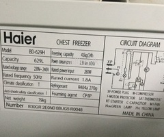 Chest freezer two door
